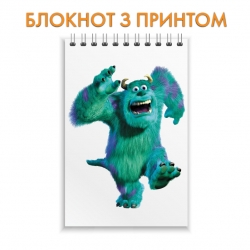 Блокнот Monsters Inc James P. Sullivan Run