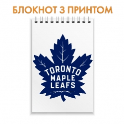 Блокнот Toronto Maple Leafs logo