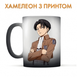 Чашка хамелеон Attack on Titan Levi Ackerman Hero