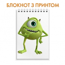 Блокнот Monsters Inc Mike Wazowski