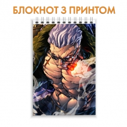 Блокнот One Piece Strong Hero