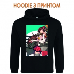 Худи с принтом Kantai Collection Hero Girl черный