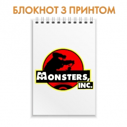 Блокнот Monsters Inc Logo