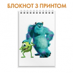 Блокнот Monsters Inc Friendly Heroes