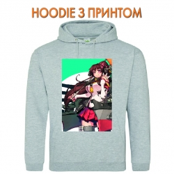 Худи с принтом Kantai Collection Hero Girl серый