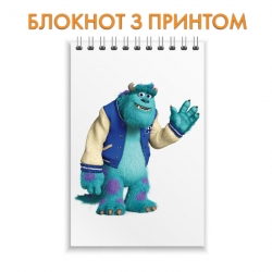 Блокнот Monsters Inc James P. Sullivan Hello