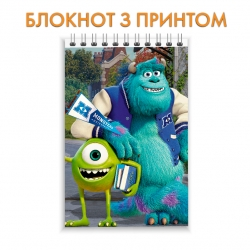 Блокнот Monsters Inc Mike And James