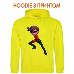 Худи с принтом The Incredibles Helen Parr желтый
