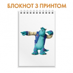 Блокнот Monsters Inc Cute James P. Sullivan
