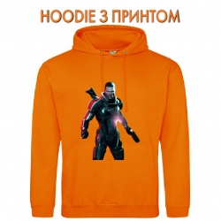 Худи с принтом Mass Effect Hero Print оранжевый