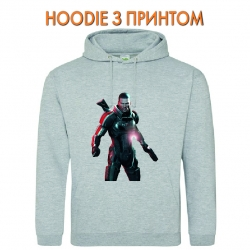 Худи с принтом Mass Effect Hero Print серый