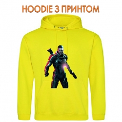Худи с принтом Mass Effect Hero Print желтый