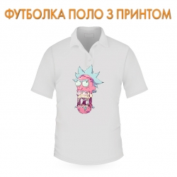 футболка поло Rick And Morty Monster Rick, белая
