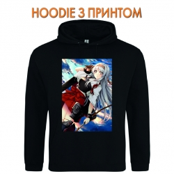 Худи с принтом Kantai Collection Shoukaku черный