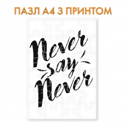 Пазл  Never say never