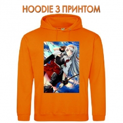 Худи с принтом Kantai Collection Shoukaku оранжевый