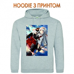 Худи с принтом Kantai Collection Shoukaku серый
