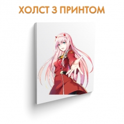 Холст  Darling in the FranXX Girl Zero Two