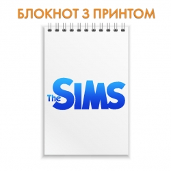 Блокнот The Sims Blue Logo