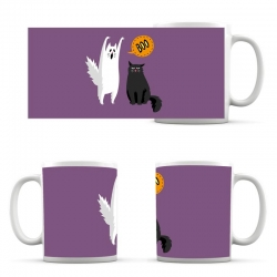 cup Halloween Boo Cat