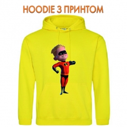 Худи с принтом The Incredibles Dashiell Dash Parr желтый