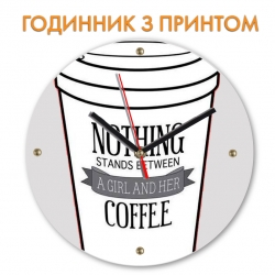 Часы Coffee and girl 2