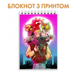 Блокнот Hotline Miami Theme