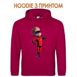 Худи с принтом The Incredibles Dashiell Dash Parr красный