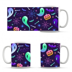 Cup Halloween Ghosts Gradient Pattern