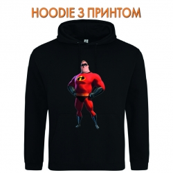 Худи с принтом The Incredibles Father черный