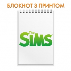 Блокнот The Sims Green Logo