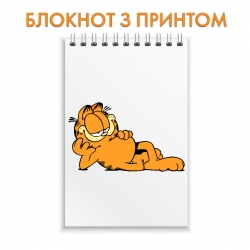 Notepad Garfield Funny Cat