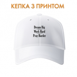 Кепка Dream, work, pray