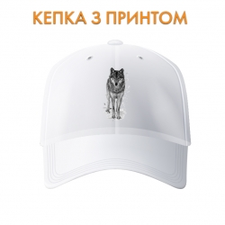 Кепка Black and white wolf
