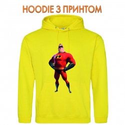 Худи с принтом The Incredibles Father желтый
