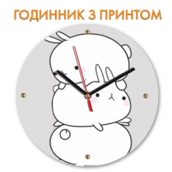 Часы Three funny rabbits