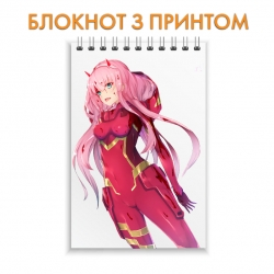 Блокнот Darling in the FranXX Zero Two Hero