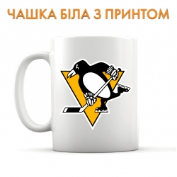 Чашка Pittsburgh Penguins logo