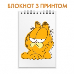 Notepad Garfield Cat