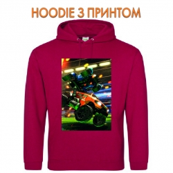 Худи с принтом Rocket League Car красный