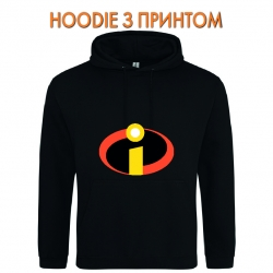 Худи с принтом The Incredibles Logo черный