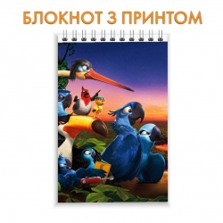 Блокнот Rio Main Heroes First Version