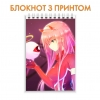 Блокнот   Darling in the FranXX Amazing Zero Two