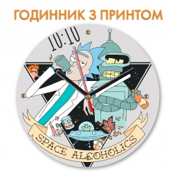 Часы Rick And Morty Space Alcoholics
