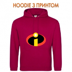 Худи с принтом The Incredibles Logo красный