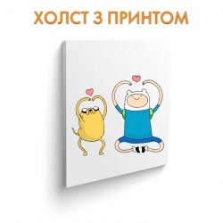 Холст Adventure Time Finn And Jake art.100037