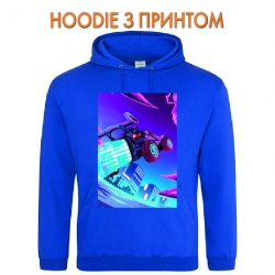 Худи с принтом Rocket League Print голубой