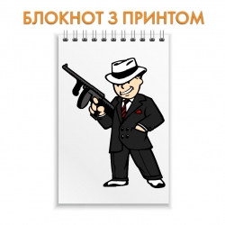 Блокнот Fallout Main Hero With Gun
