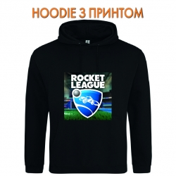 Худи с принтом Rocket League Logo черный