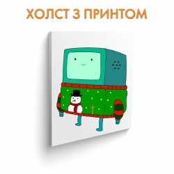 Холст Adventure Time Christmas Beemo art.100039